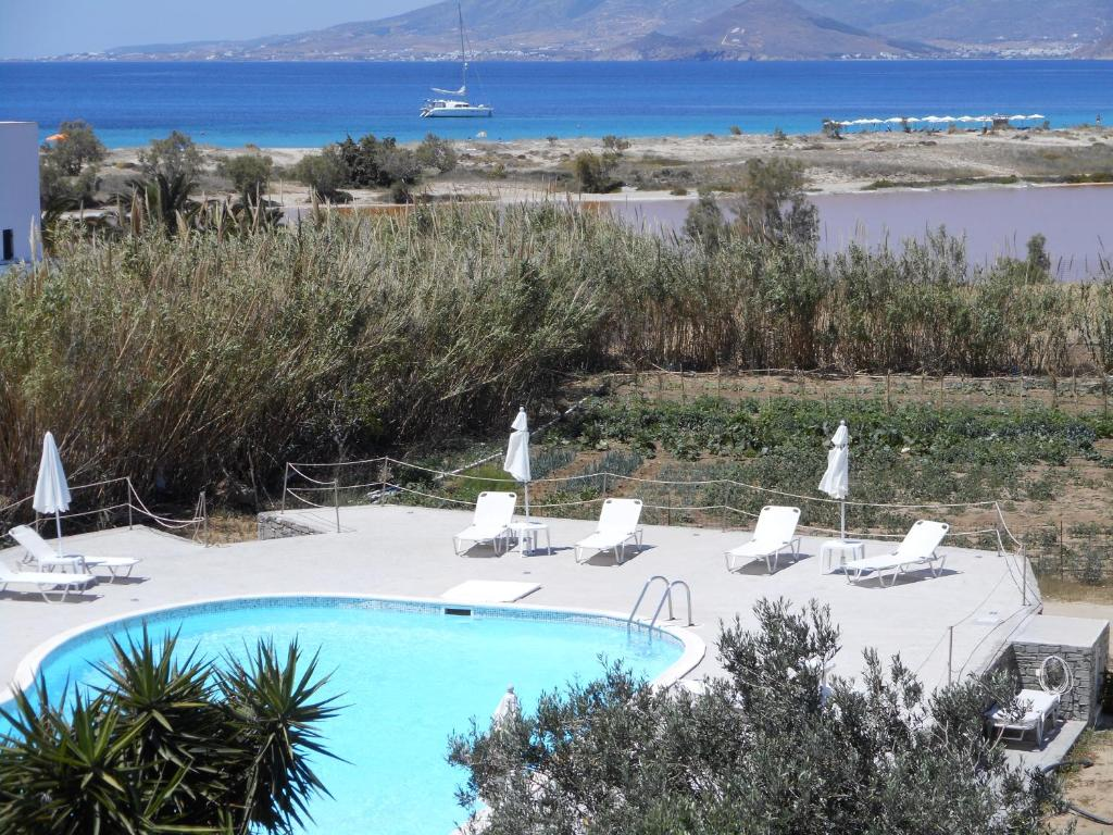 A view of the pool at Nikoletta Studios or nearby