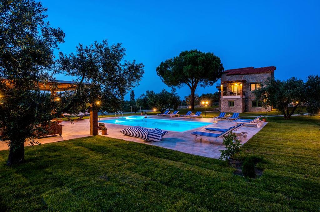 The swimming pool at or near Mediterraneo Luxury Suites Halkidiki