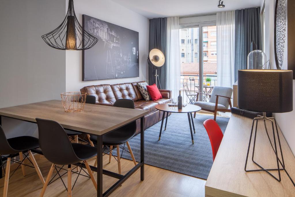 Ein Sitzbereich in der Unterkunft Habitat Apartments Hot Jazz