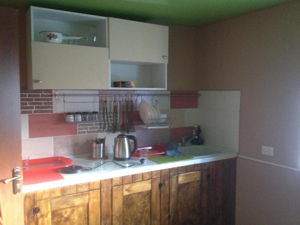 A kitchen or kitchenette at Hostel Uralskie Gori
