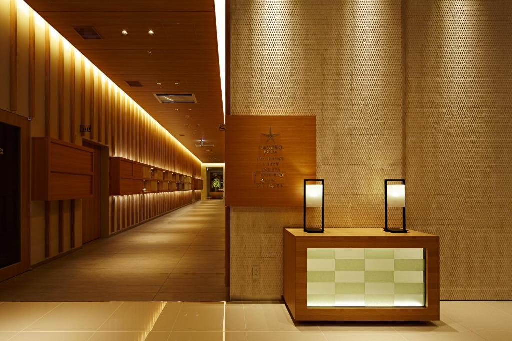 칸데오 호텔 마쓰야마 오카이도 로비 또는 리셉션