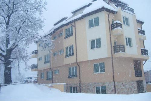 River Lodge Apartments during the winter
