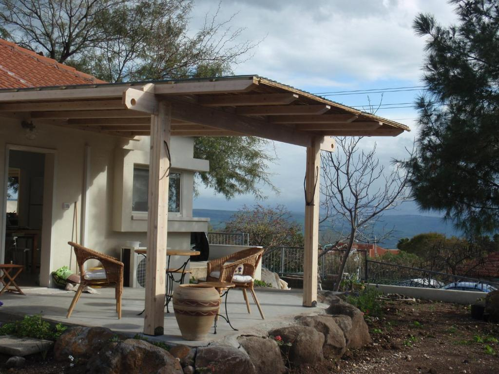 A porch or other outdoor area at Lovely home above the Kinneret