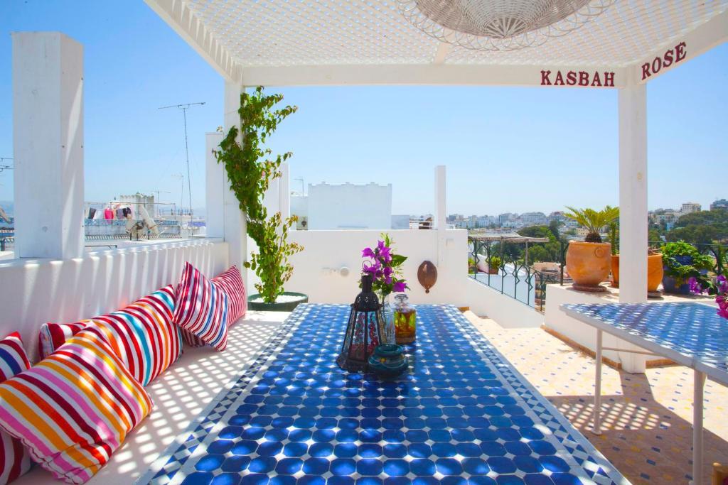 Balcon ou terrasse dans l'établissement Kasbah Rose