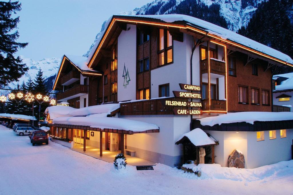 Sport- und Wellnesshotel Eienwäldli during the winter
