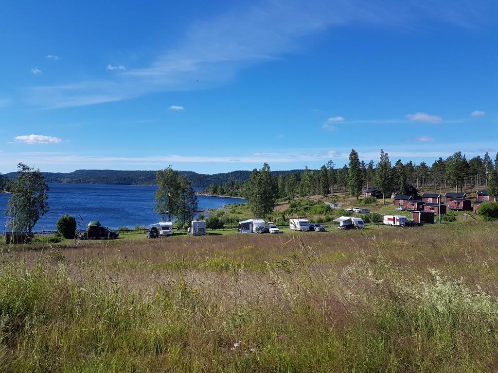 Naturlandskap nära campingen