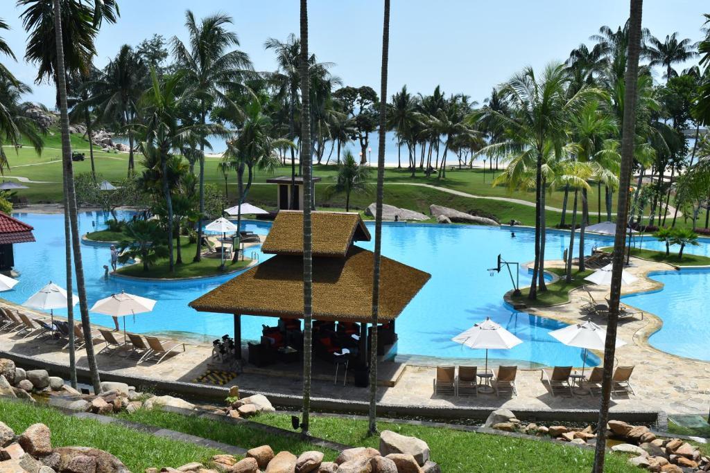 The swimming pool at or near Bintan Lagoon Resort