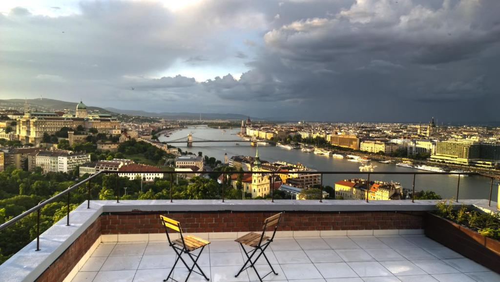 A balcony or terrace at View of Budapest