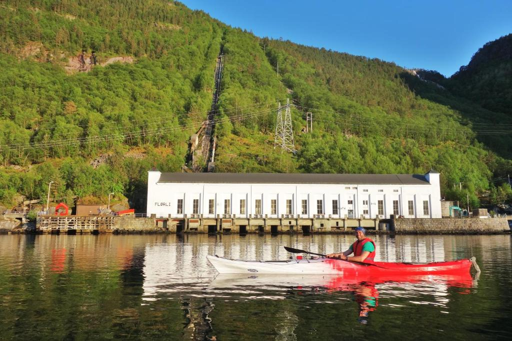 Canoeing at the hostel or nearby