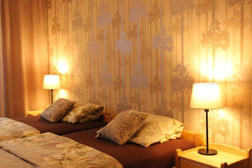 Postel nebo postele na pokoji v ubytování Ubytování U Morisse