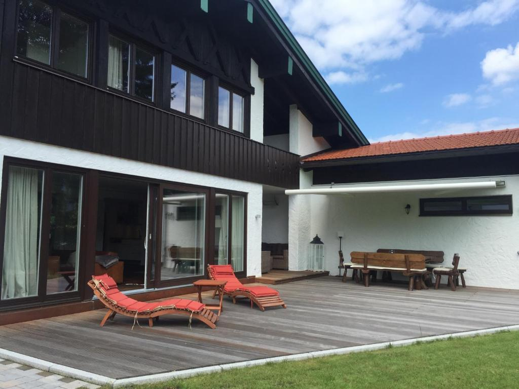 A porch or other outdoor area at Ferienhaus Seehof