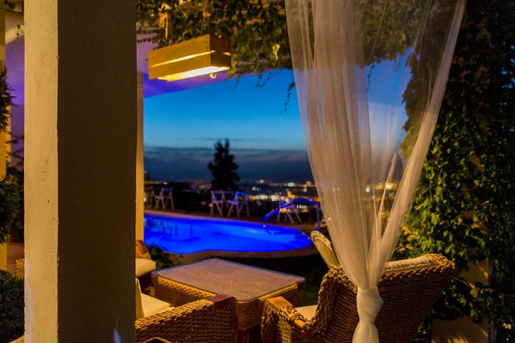 Un patio o zona al aire libre en El Balcon de las Nieves