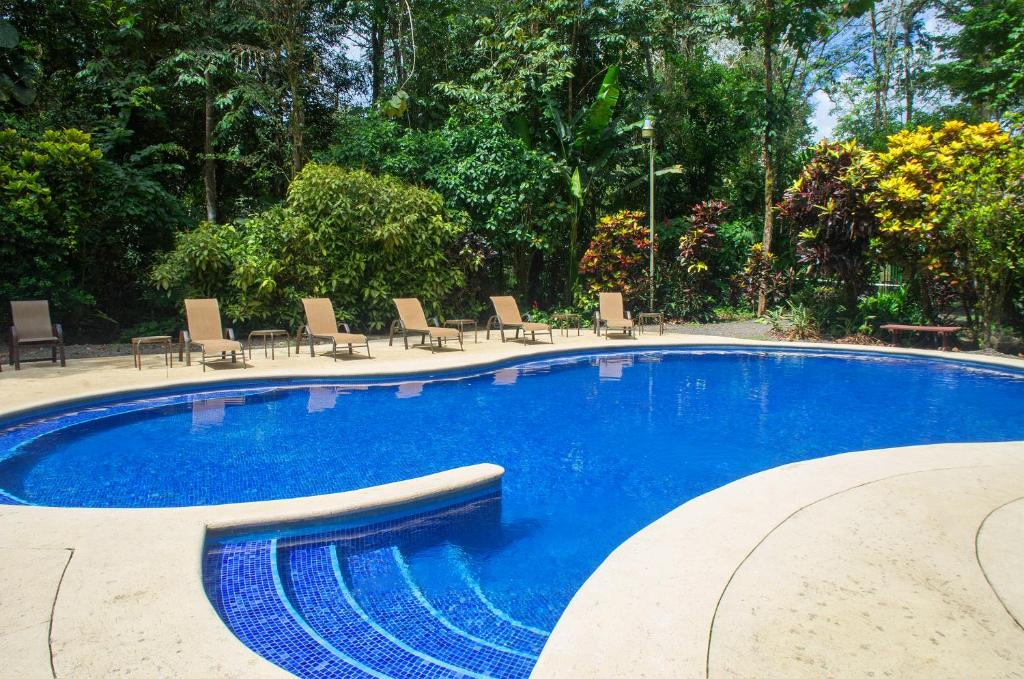 The swimming pool at or near Selva Verde Lodge