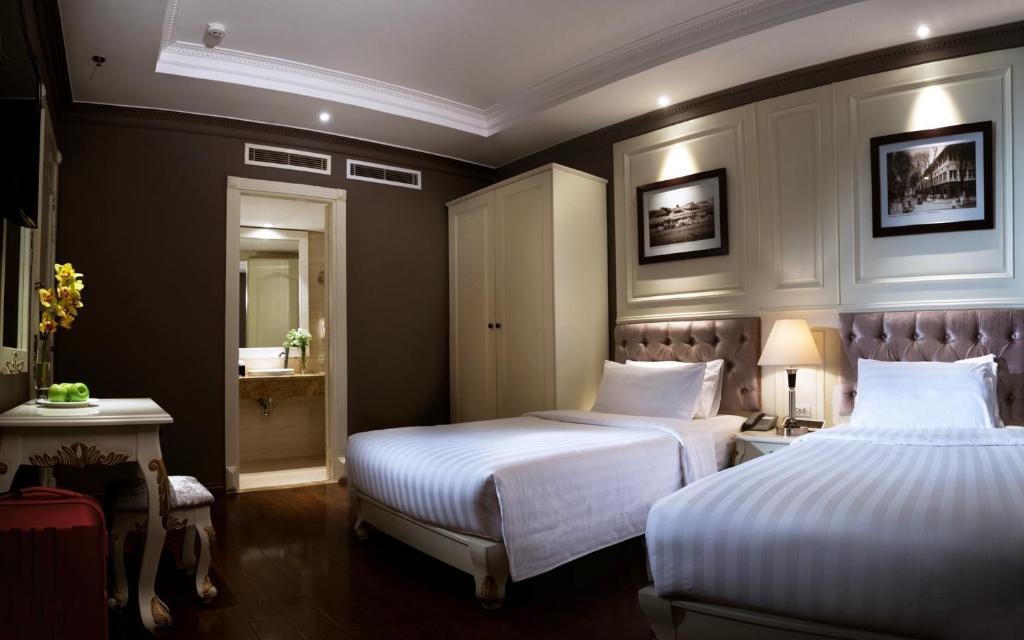 Phòng Deluxe 2 Giường Đơn (Không Có Cửa Sổ)