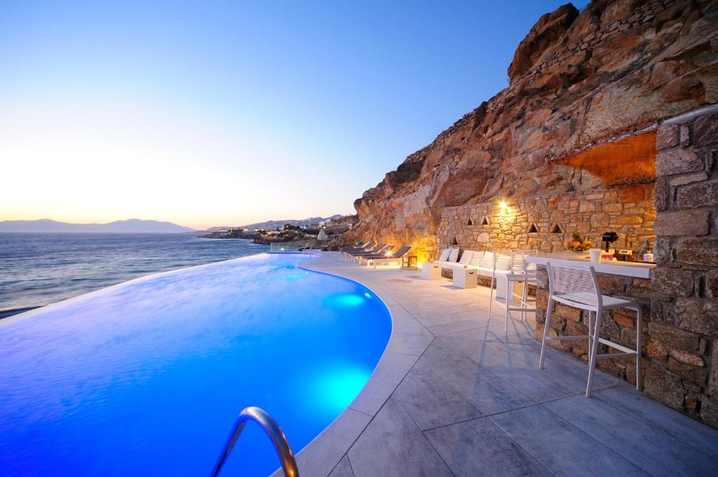 The swimming pool at or close to Mykonos Beach Hotel