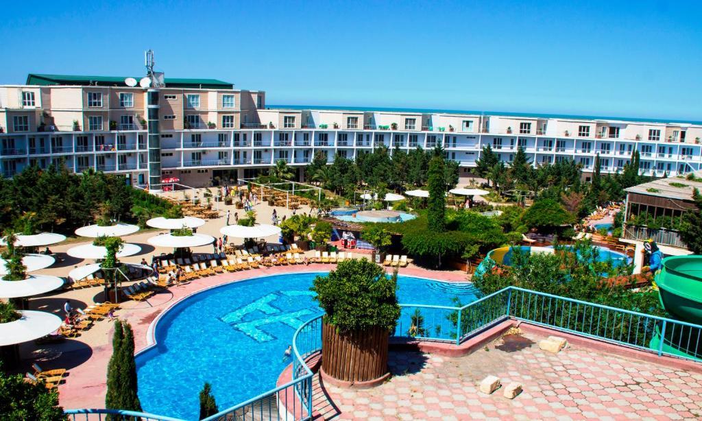 Вид на бассейн в AF HOTEL AQUAPARK или окрестностях