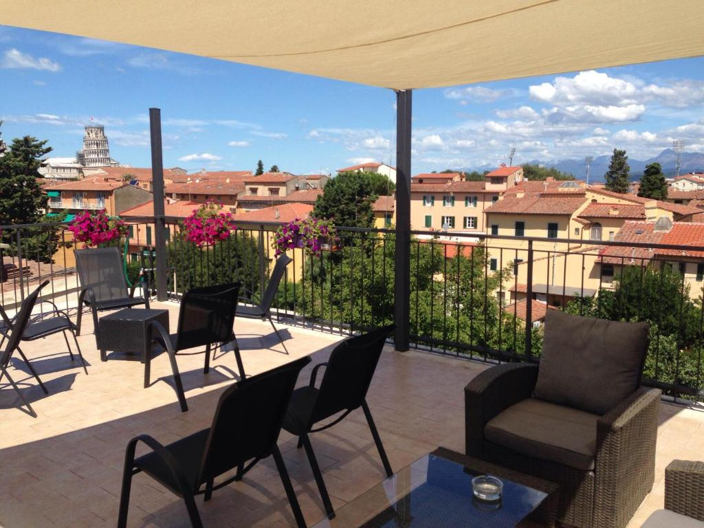 A porch or other outdoor area at Hotel Di Stefano