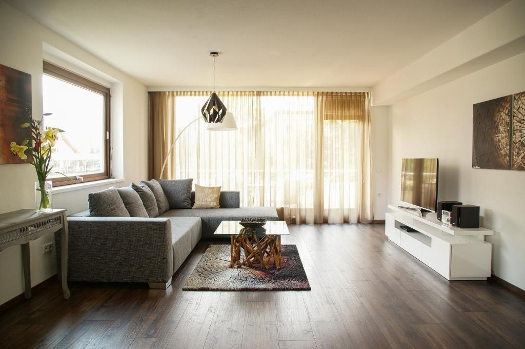 Lounge oder Bar in der Unterkunft Apartment Untersbergblick