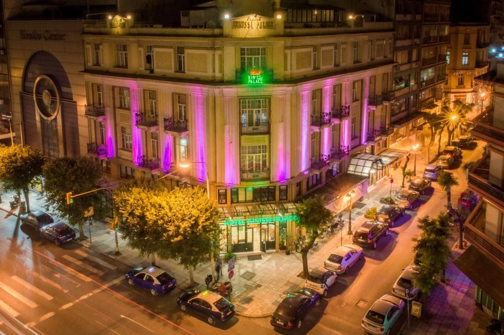 Γενική άποψη της πόλης Θεσσαλονίκη ή θέα της πόλης από  αυτό το ξενοδοχείο