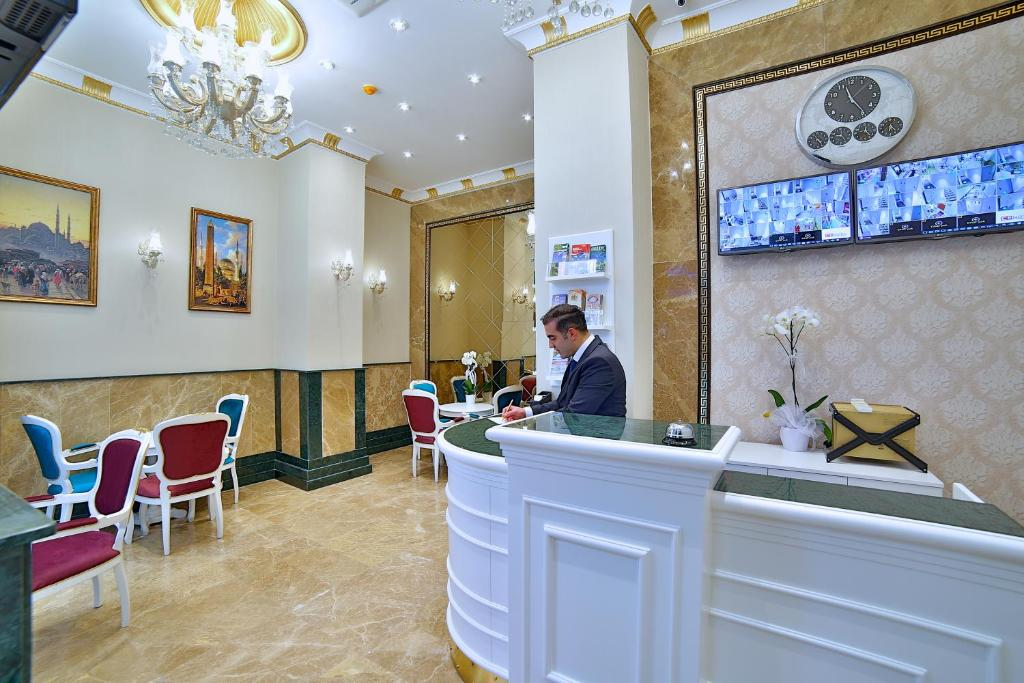 Лобби или стойка регистрации в Glamour Hotel Istanbul Sirkeci