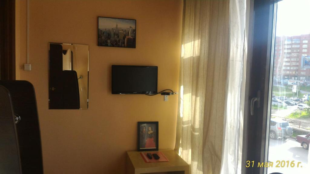 A television and/or entertainment center at Zvyozdny Mini Hotel