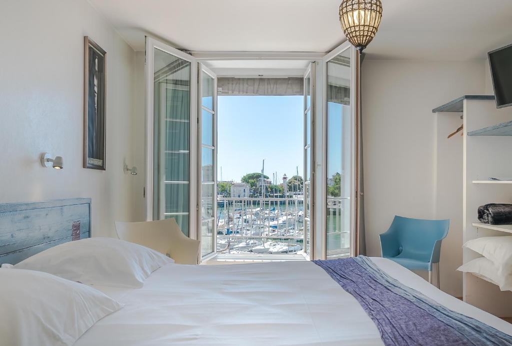 Ein Zimmer in der Unterkunft Hotel La Marine