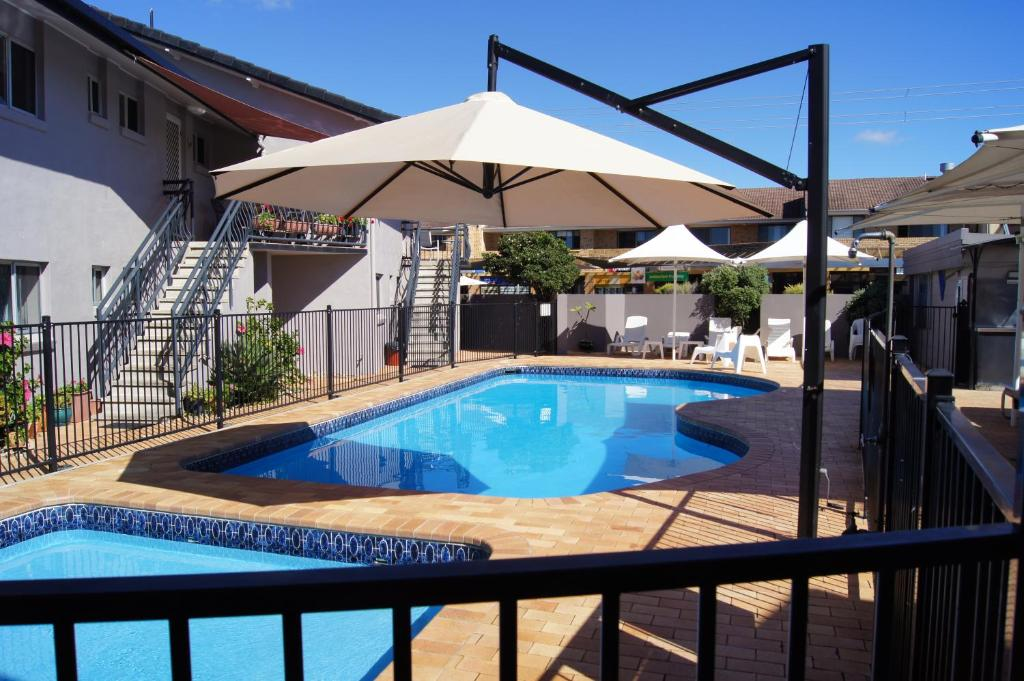 The swimming pool at or close to Lennox Head Beachfront Apartments