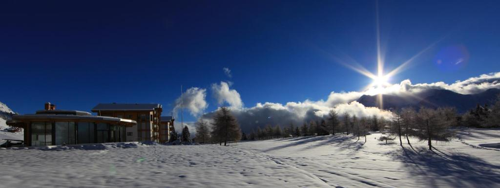 L'établissement Hotel Royal en hiver