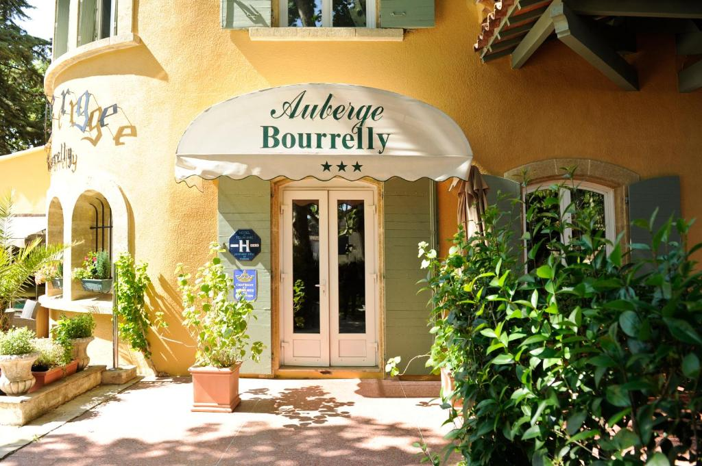 The facade or entrance of Auberge Bourrelly