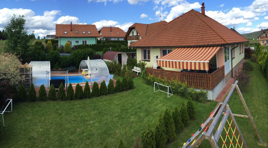 A view of the pool at Vila Frymburk 269 or nearby