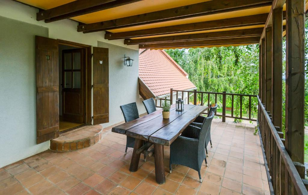 A patio or other outdoor area at Tagyon Birtok