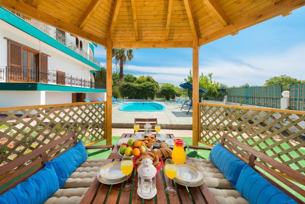 A balcony or terrace at Villas Marianna