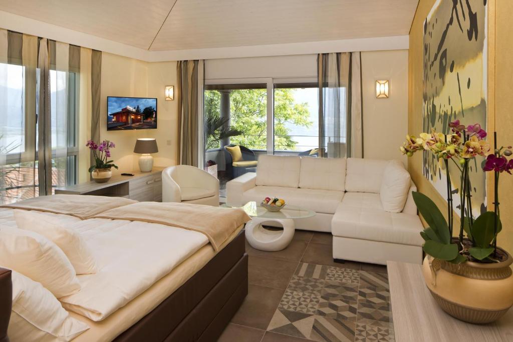 Ein Zimmer in der Unterkunft Boutiquehotel Albergo Brione