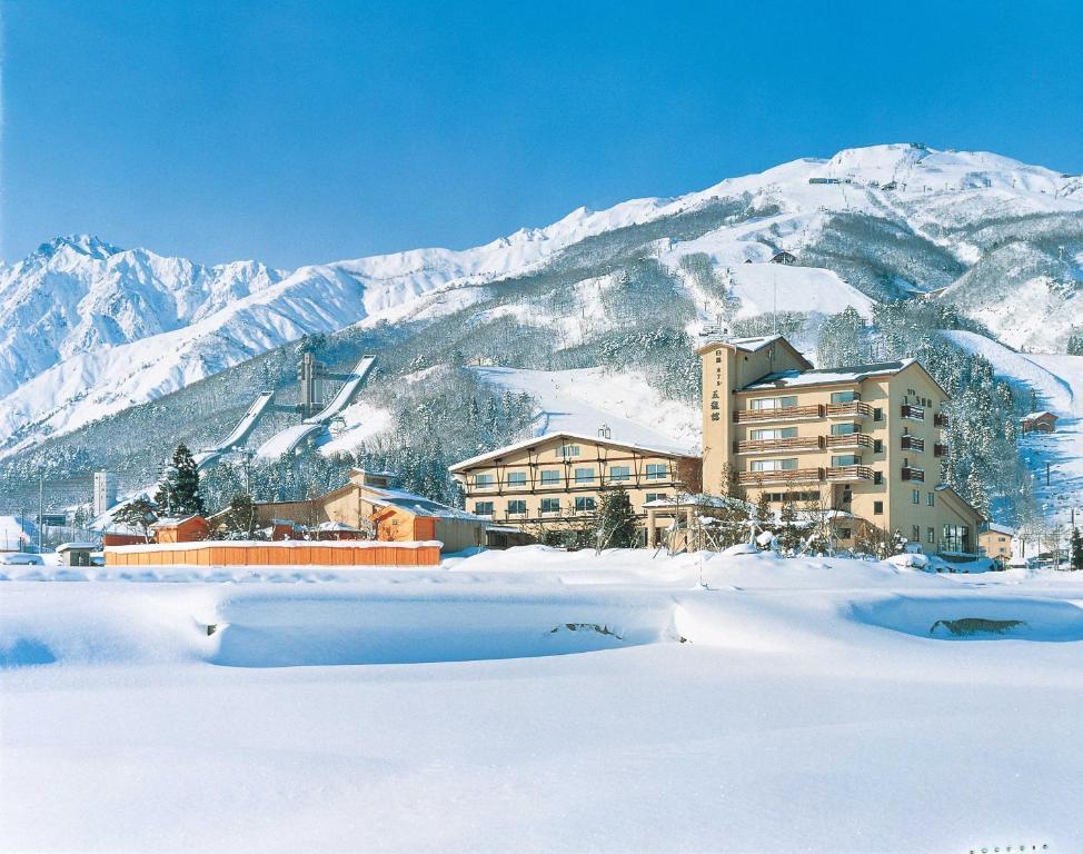 Hotel Goryukan during the winter