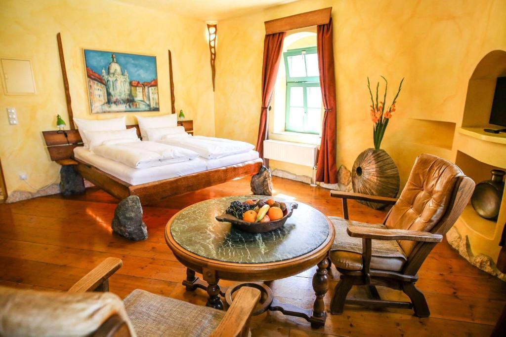 Ein Zimmer in der Unterkunft Backstage Hotel