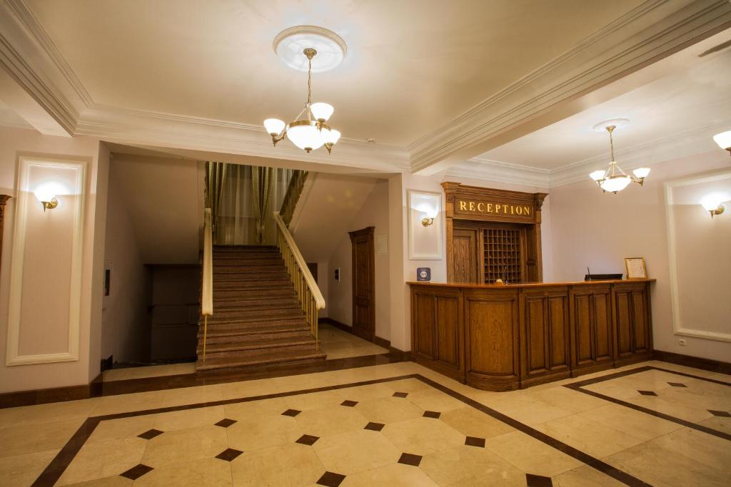 The lobby or reception area at Abakan Hotel
