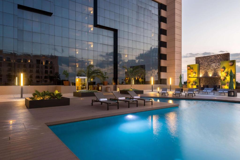 The swimming pool at or near Hyatt Regency Merida
