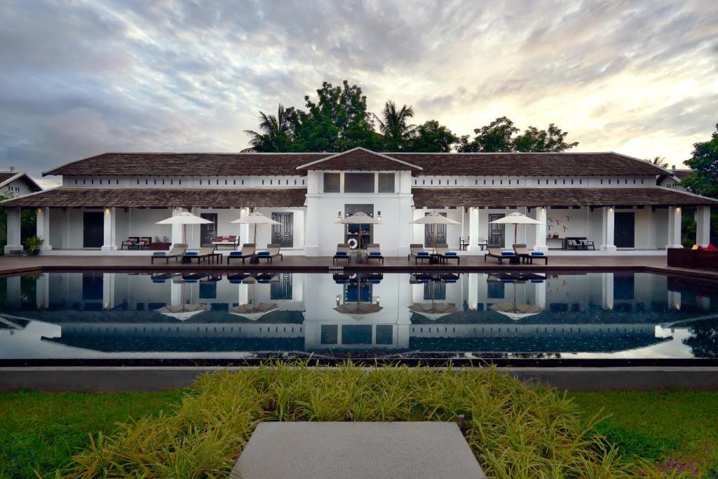 A garden outside Sofitel Luang Prabang
