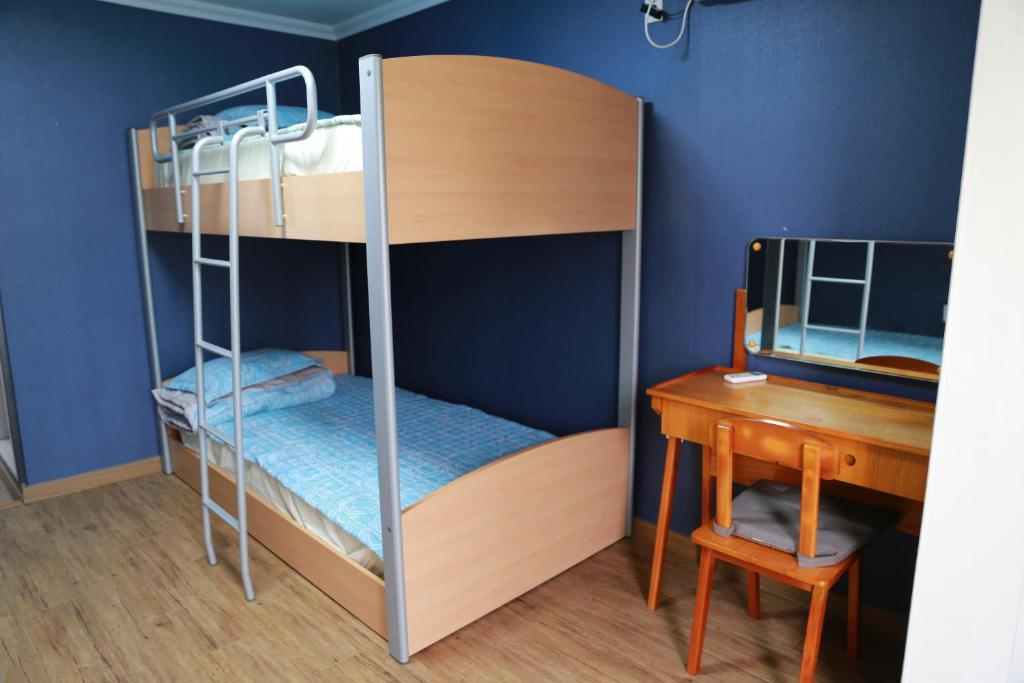 A bunk bed or bunk beds in a room at Hertz Guesthouse