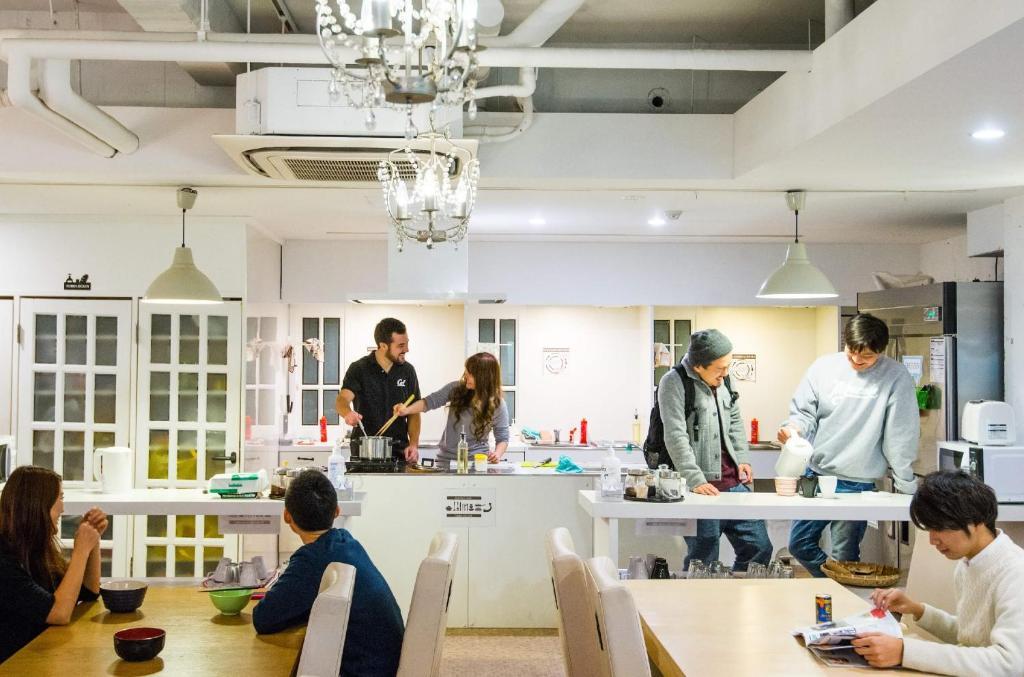 The lobby or reception area at Khaosan World Asakusa Ryokan & Hostel