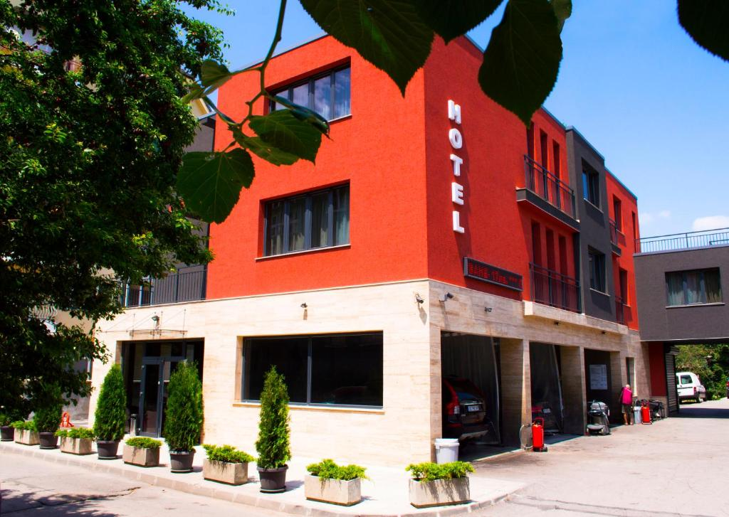 The facade or entrance of Calipso Hotel