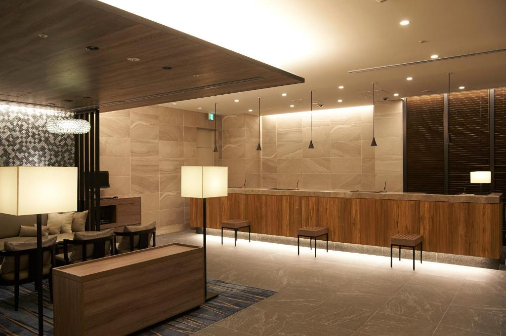 The lobby or reception area at Sotetsu Fresa Inn Ginza-Nanachome