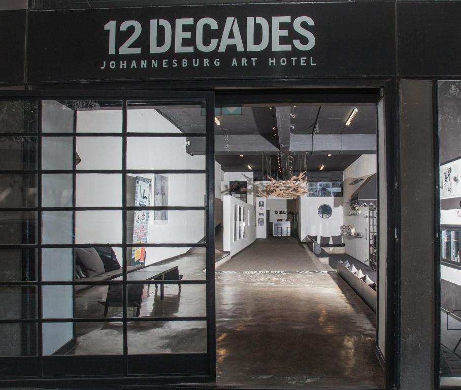 The facade or entrance of 12 Decades Art Hotel