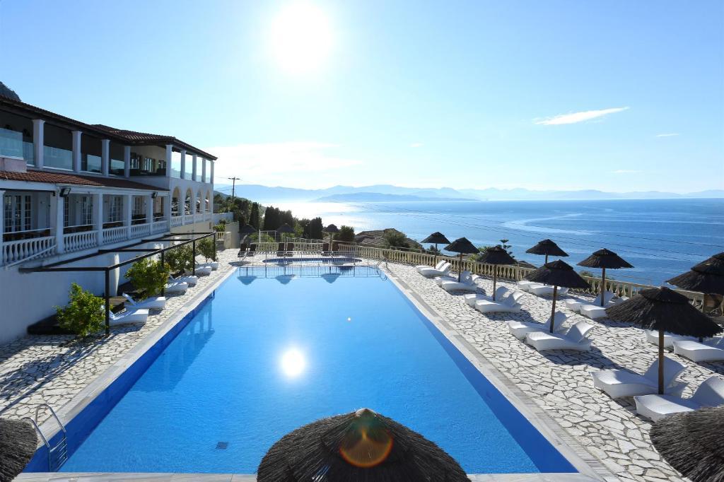 The swimming pool at or near Pantokrator Hotel