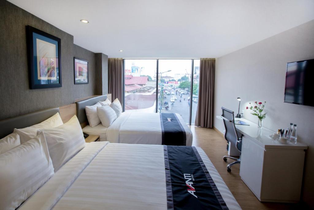 Phòng Avanti Gia đình có 2 Giường Cỡ Queen Nhìn ra Thành phố