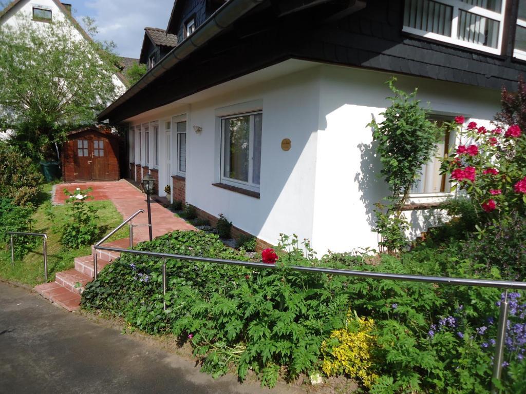 Ein Balkon oder eine Terrasse in der Unterkunft Haus am Burgberg