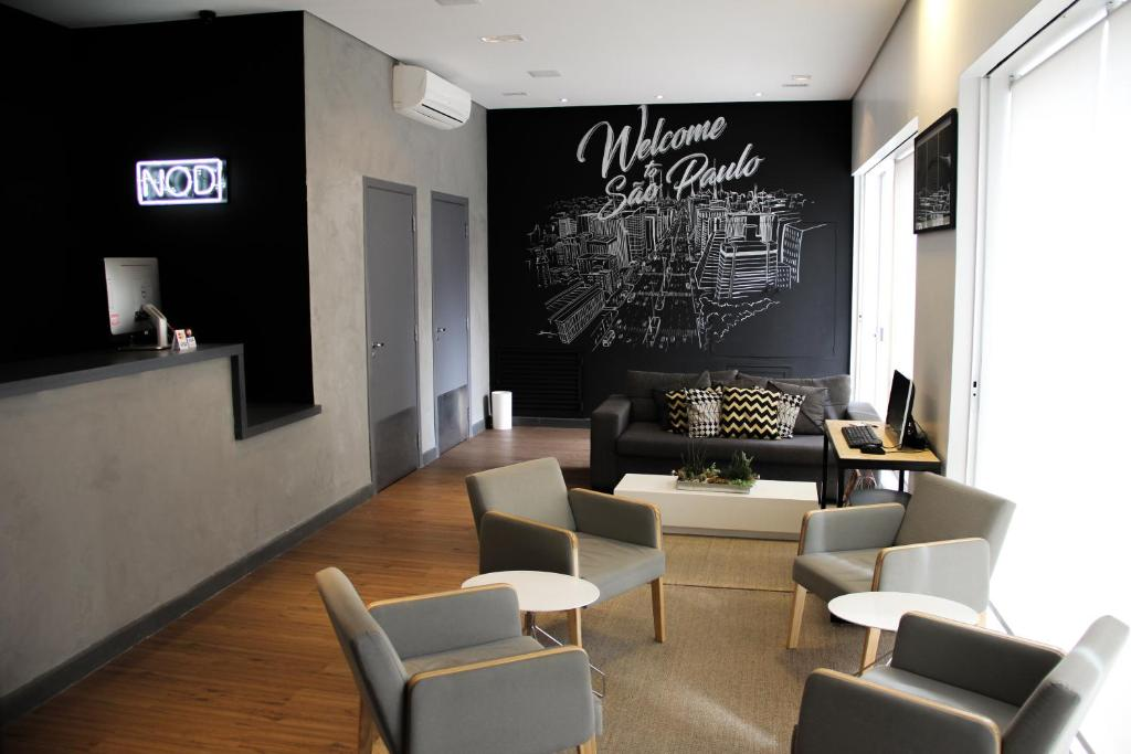 The lounge or bar area at NOD Hotel