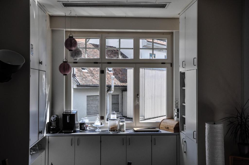 Küche/Küchenzeile in der Unterkunft Bed and Breakfast im Herzen von Biel