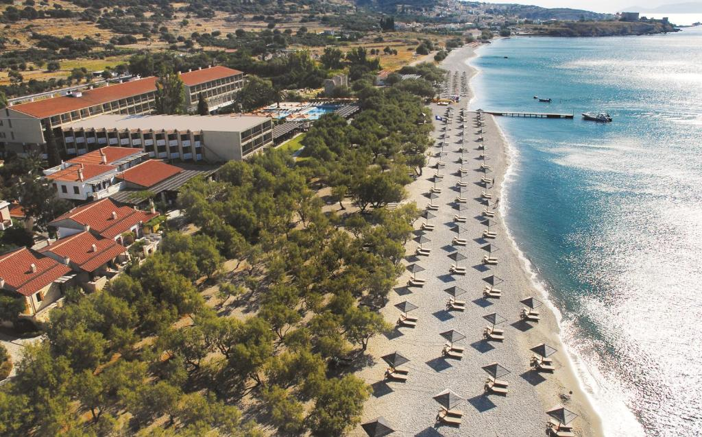 A bird's-eye view of Doryssa Seaside Resort