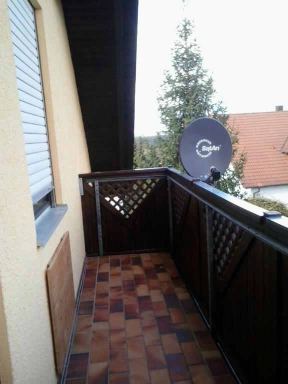 Ein Balkon oder eine Terrasse in der Unterkunft Ferienwohnung Anne